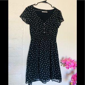 Abercrombie and Fitch black polka dots mini dress